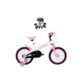 Modelo de cohete Bicicleta para niños con 16 & # 39; & # 39; Ruedas rosa