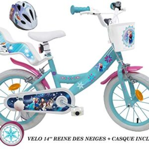 Reine Des Nieves - Bicicleta para niños Frozen, 14 pulgadas + Casco I ...