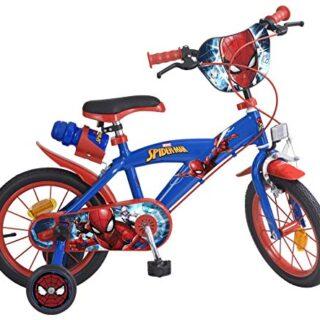 Tomisa- Bicicleta Spiderman con pedales, 85.6 x 50.3 x 21.3 (874)