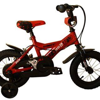 """Umit J1250 Bicicleta para niños, Niños, Rojo / Negro, 12 """""""