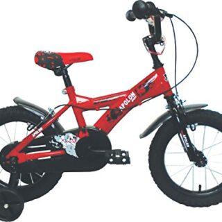 """Umit J1450 Bicicleta para niños, Niños, Rojo / Negro, 14 """""""