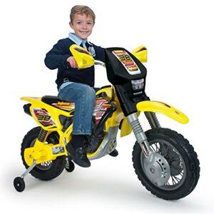 INJUSA Moto Cross Thunder MAX VX 12V con ruedas, amarillo y ...