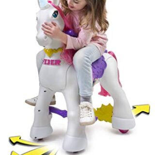 FEBER - My Lovely Unicorn with Pink Mane, Electronic Pet and Vehicles ...