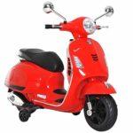 HOMCOM Triciclo de coche de motocicleta eléctrica para niños para niños de 3-6 años ...