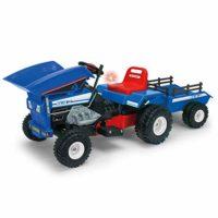 INJUSA Blue Color 12V Tractor de volcado con volcado y remolque ...