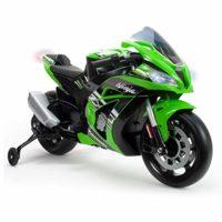 INJUSA- Moto ZX10 Ninja Kawasaki 12 V, con licencia de luces y sonido ...