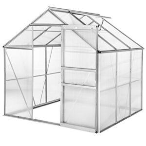 TecTake Invernadero de jardín policarbonato Transparente Aluminio case...
