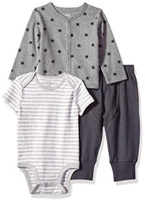 Amazon Essentials - Conjunto de 3 piezas con  cárdigan para bebé, Uni ...