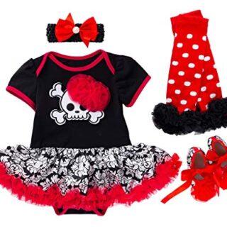 FANCYINN Bebé Niña Tutu Dress Romper Pumpkins Disfraz de Halloween Dia...