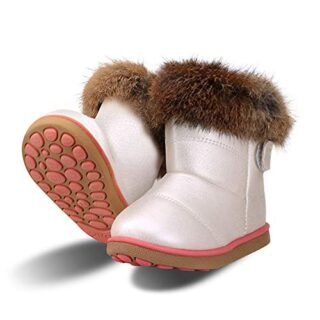Botas de Nieve para Niñas Impermeable Calentar Zapatos de Invierno par...