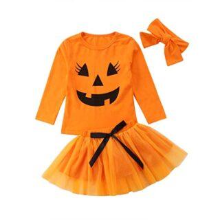 Carolilly Niña Conjunto de Ropa para Halloween 3 Piezas Set Toddler Ba...