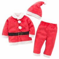 Bebé 3pcs de Navidad Santa Claus Traje para recién Nacido, niño, niña,...