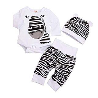 Conjunto impresión Cebra Bodies Tops y Pantalones para 0-12 Meses bebé...