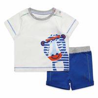 Esprit Kids Set T-Shirt+SHO Conjunto de Ropa, Blanco (White 010), (Tal...
