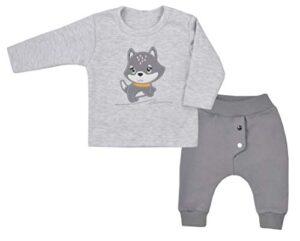 Fifiloo 2er Babyset Shirt/Hose Für Jungen Und Mädchen Conjunto, Gris (...