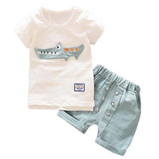 Logobeing 2 Piezas/Conjunto Ropa Verano Bebé Niños Camiseta Dibujos An...