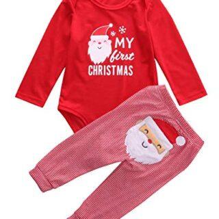 Mi Primera Navidad 2 Piezas Traje para Bebé Recién Nacido Conjunto de ...