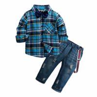Mitlfuny Conjunto de 2 Piezas Cuadros Blusas + Jeans Ropa de Bebé Cami...