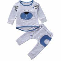 Puseky 2 unids/Set Conjuntos de Ropa de Bebé Trajes de Otoño Bebé Niño...