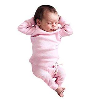 Recién Nacido Bebé Niños Niñas Tops Pantalones Ropa de casa Casual Rop...