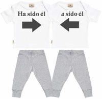 SR - Ha Sido él & Ha Sido él - Conjunto Gemelo - Regalo para bebé - Bl...
