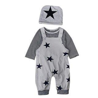 T TALENTBABY - Conjunto de Ropa para recién Nacido, Camiseta de Rayas ...