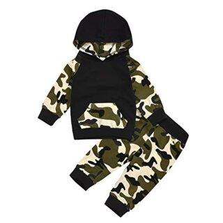 URMAGIC Baby Boys Clothes Sets, Infant Camouflage Patchwork Raglan Sle...