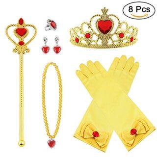 Vicloon Princesa Vestir Accesorios 8 Pcs Regalo Conjunto de Belleza Co...