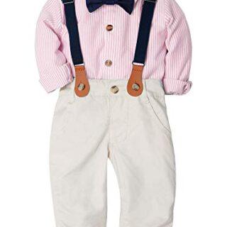 ZOEREA 2 Piezas Conjunto de Ropa de Bebé Niño Pantalones + Camisa de R...