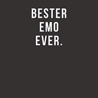 Bester Emo Ever - Notizbuch • Journal • Tagebuch: Lustiges Geschenk fü...