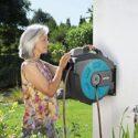 GARDENA 8025-20 - Caja de manguera montada en la pared, 35 roll-up aut...