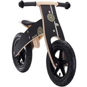 BIKESTAR Bicicleta sin pedales para niños y niñas   Bicicleta de madera 12 Pul ...