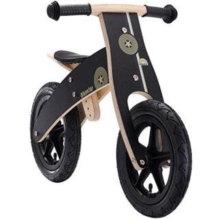 BIKESTAR Bicicleta sin pedales para niños y niñas | Bicicleta de madera 12 Pul ...
