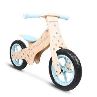 Lalaloom- Bubble Bike Bicicleta sin pedales de madera, color azul (130 ...