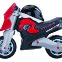 Slider de motocicleta Molto- Xtreme con casco, color negro / rojo (10242)