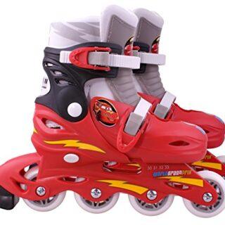 Cars 2 - Patines en línea, tamaño ajustable 30-33 (Mattel J892302)