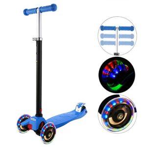 Hikole Child Scooter 3 ruedas, scooter ajustable en altura para niños ...