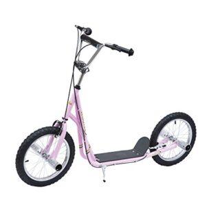 Homcom Scooter Scooter 2 ruedas monopatín de 16 pulgadas para niños y niños ...