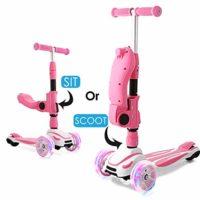 Patinetes WeSkate para niños con asiento plegable, patinetes de altura ...