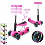 Scooter Hikole Smibie para niños Scooter de 3 ruedas con ajuste de altura ...