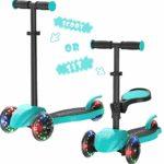 Scooter Macwheel Scooter de 3 ruedas con luces de manillar LED Altura ajustable ...