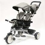 QPLAY - Triciclo gris Twin Baby - Evolutivo - Plegable - S ...