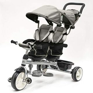 QPLAY - Triciclo gris Twin Baby - Evolutivo - Plegable - S ...