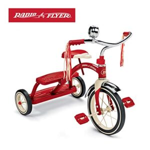 Radio Flyer New Classic Red Dual Deck Trike Triciclo Paseo en bicicleta para niños ...