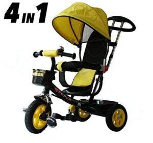 Triciclo All Road Trikes Kids 4 en 1 - Pedal negro y amarillo en ...
