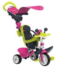 Triciclo rosa Baby Driver Comfort con estructura de metal y ruedas silenciosas
