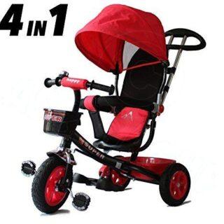 Triciclos All Road Trikes Kids 4 en 1 - Negro y Rojo - Inf.