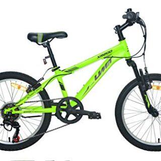 """Bicicleta Umit 20 """"XR-200 Verde con Shimano 6V Cambio y Suspensión ..."""