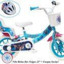 Bicicleta de 2 vías Frozen para niñas con porta muñecas AR + Casco para ...