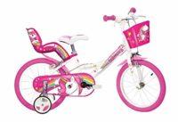 """Dino Bikes 164R-UN Bicicleta de ciudad 40.6 cm (16 """") Acero rosa, blanco ..."""